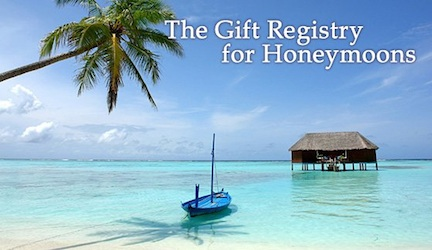 Honeymoon Registries Growing in Popularity