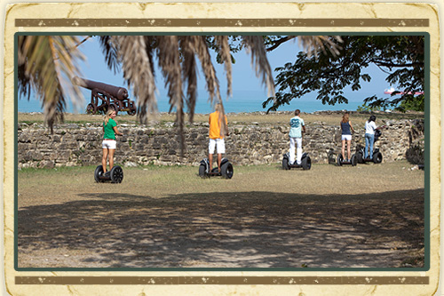 Historic Fort & Beach Tour on Segway