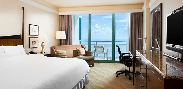 Our One King Bed Ocean Front Balcony Deluxe Room