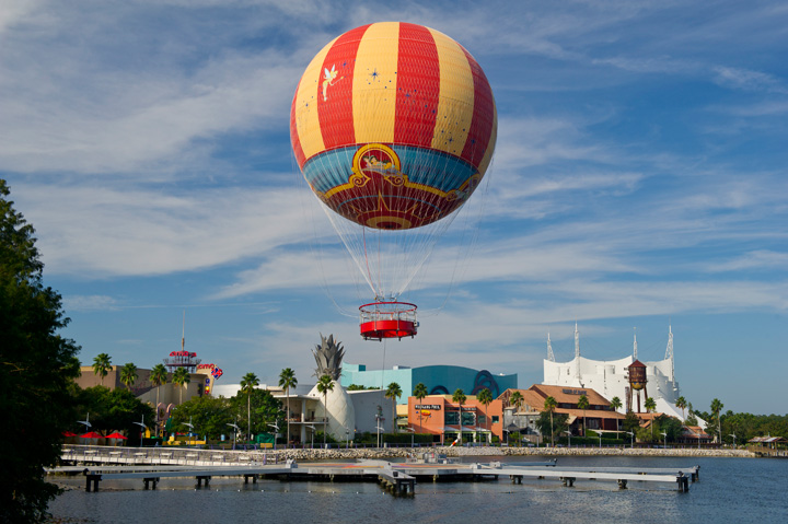 Characters in Flight Hot Air Balloon