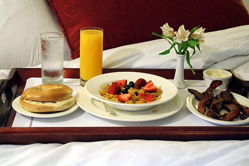 Honeymooners Breakfast In Bed